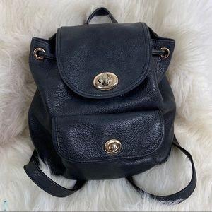 Coach Mini Turnlock Tie Rucksack Backpack